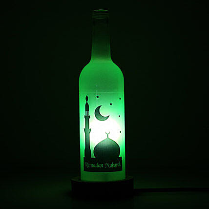 Green Bottel Lamp Ramadan Mubarak
