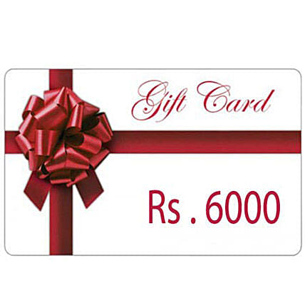 redeemable-Gift Card Rs.6000
