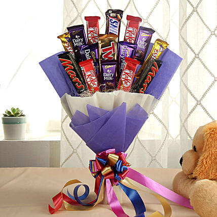 Chocolate Bar Bouquet chocolates