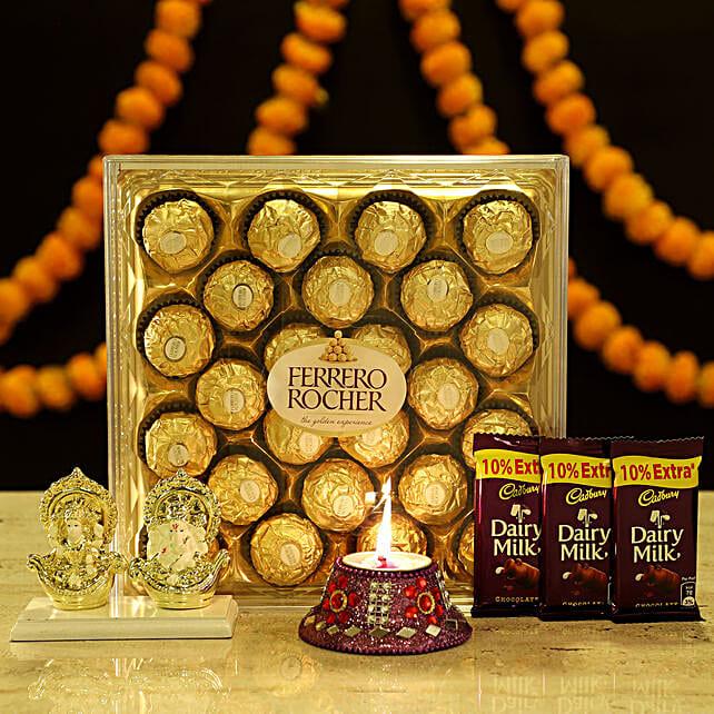 Online Laxmi Ganesha & Chocolates