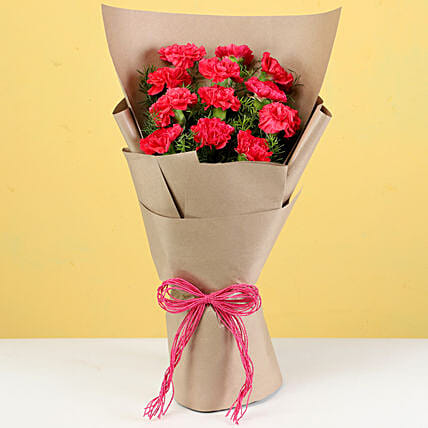 red carnation bouquet for parents