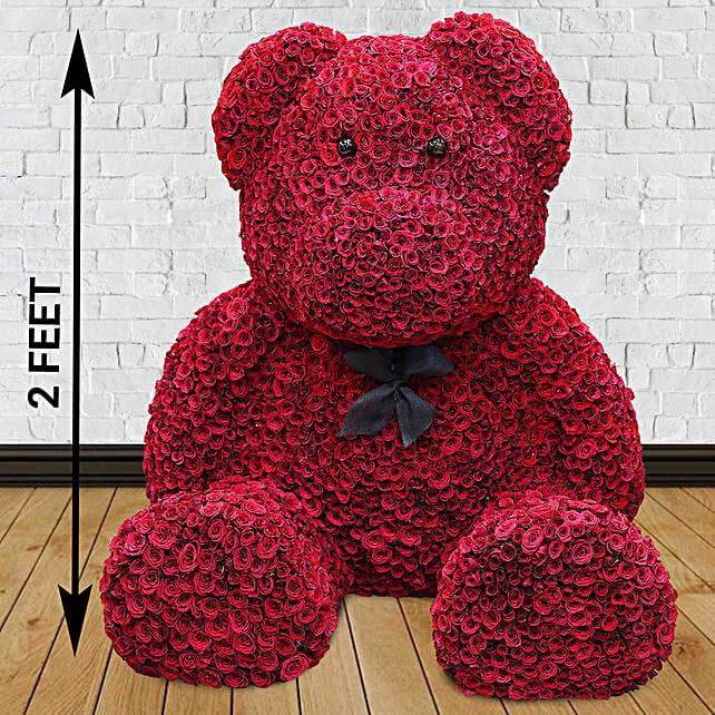 Online Red Rose Teddy