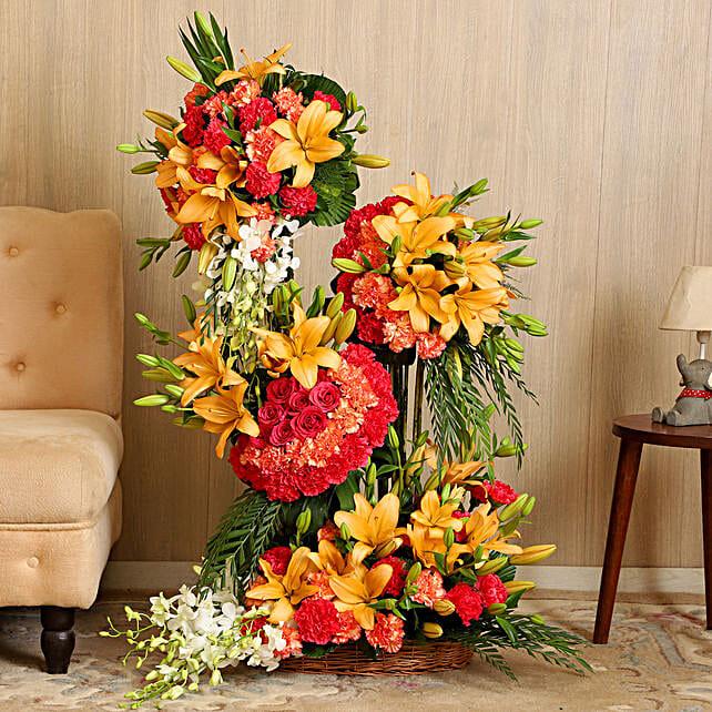 Online Gorgeous Colorful Flower Arrangement