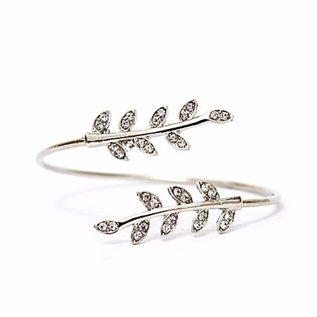 Silver Leaves Bracelet Online