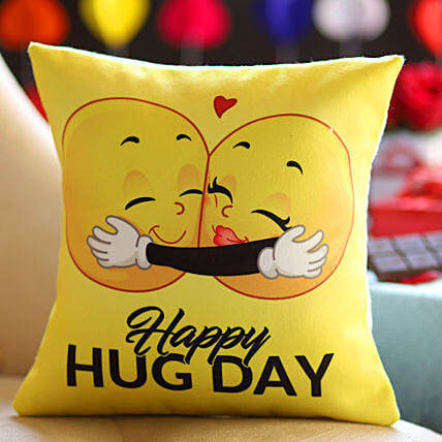 Happy Hug Day Cushion