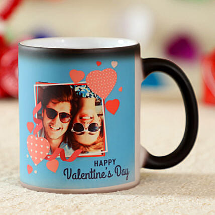 Happy Valentines Day Personalised Magic Mug