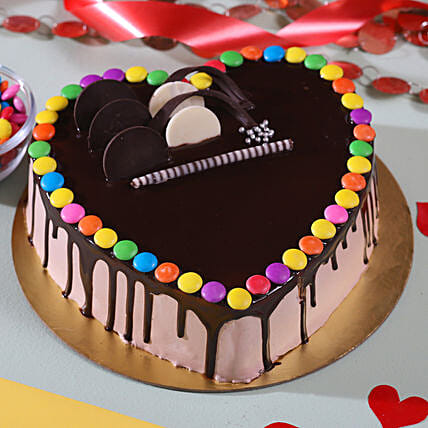 Romantic Chocolate Cake Online