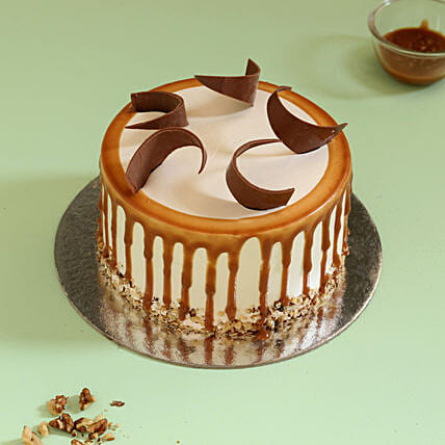 Online Caramel Walnut Cake