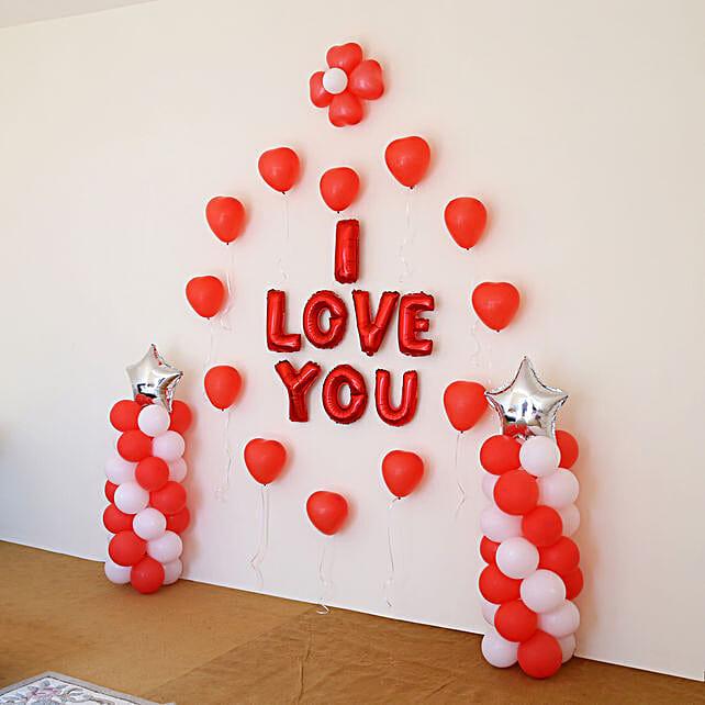Online balloon decor for him
