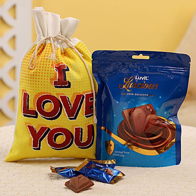 Chocolates in Gunny Bag Online