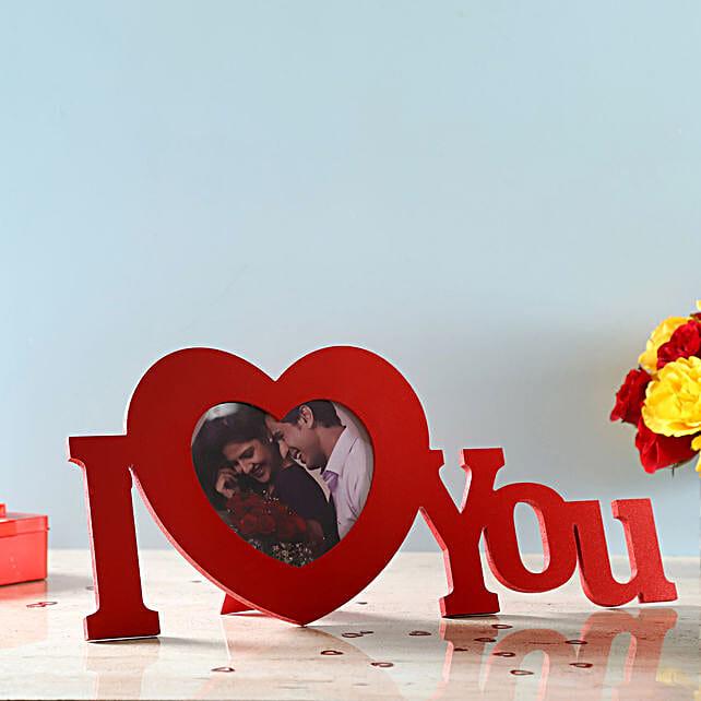 wishing valentine with personalised photo frame