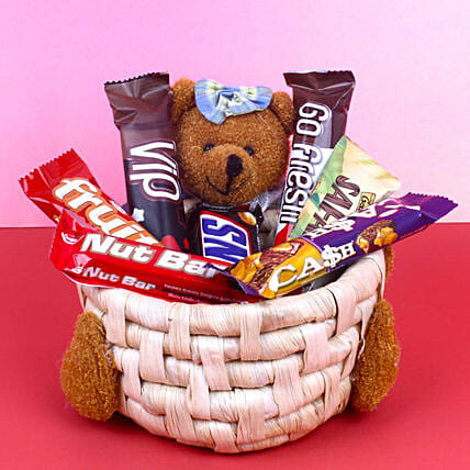 Soft Toy Chocolate Basket