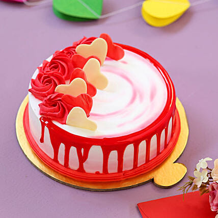 Heart Cake For Valentine Day