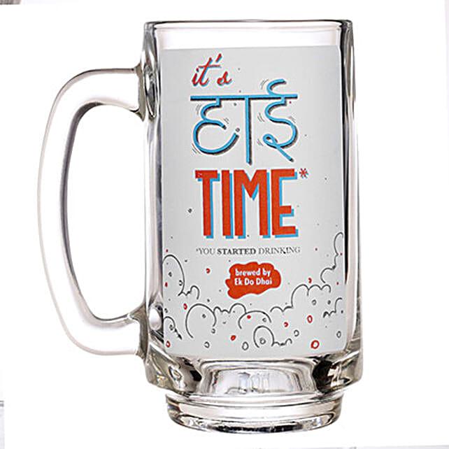 Multicolor Printed Beer Mug
