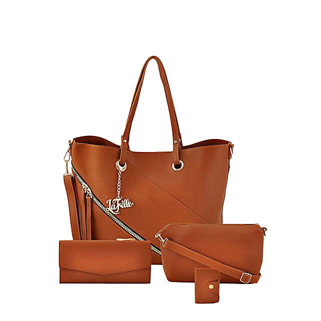 Online Brown Swanky Hand Bag Set