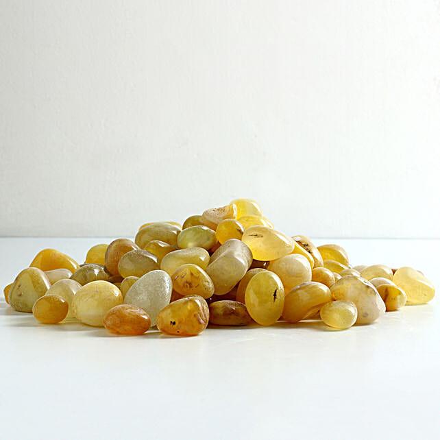 lemon stone pebbles for décor