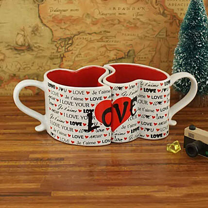 Online Love Hearts Mug Set