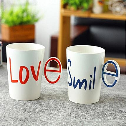 Online Love & Smile Combo Mugs