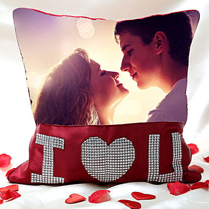 I Love You Personalized Cushion Valentine
