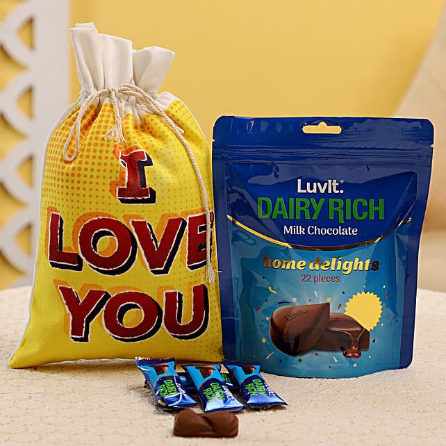Mini Chocolate Bag in Gunny Bag