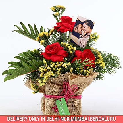exclusive personalized flower bouquet for him