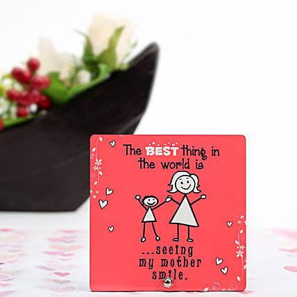 Mothers Smile Plaque-1 red coloured mothers smile plaque