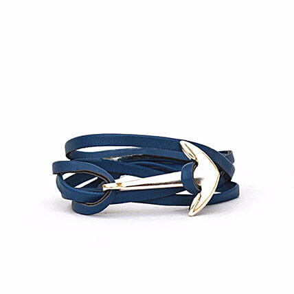 Navy Anchor Bracelet Online