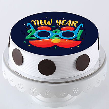 Happy new year printed cake online