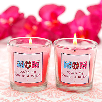 1 In a Million Mom-2 candles for mom