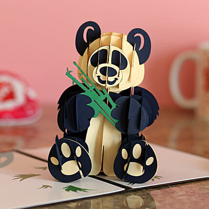 Online Panda Birthday 3D Card