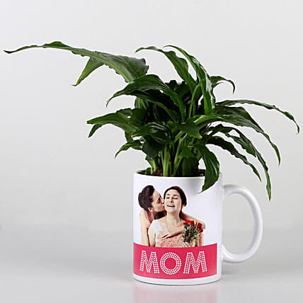 best photo printed coffee mug with plant for mom