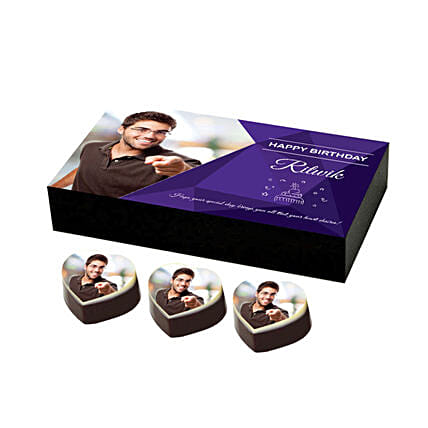 special birthday chocolates box printed online