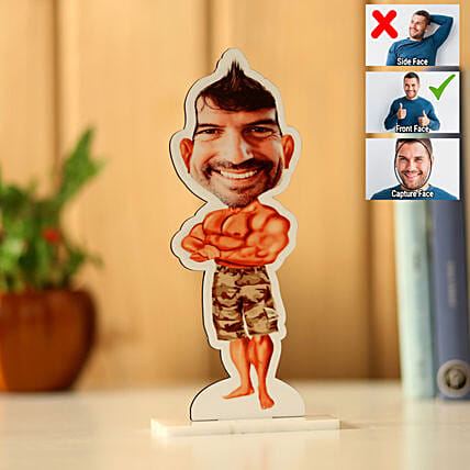 Online Personalised Body Builder Caricature