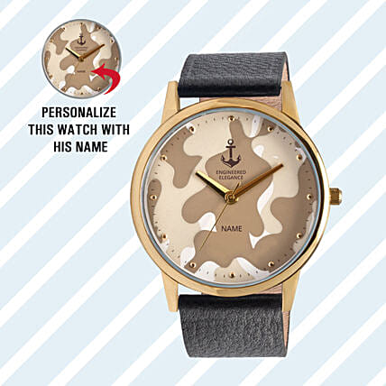 camouflage dial watch for him