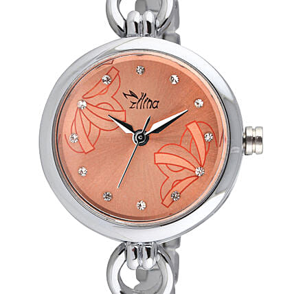 Personalised Classy Silver Watch