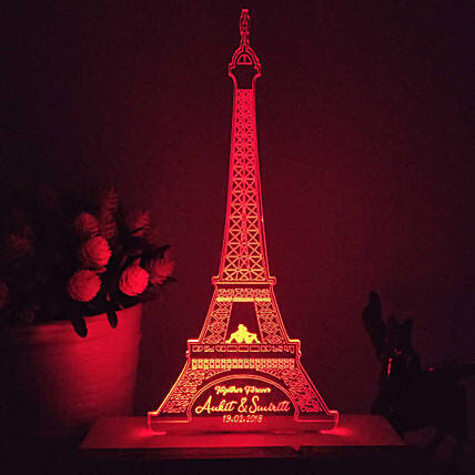 home decor eiffel tower shape led night lamp