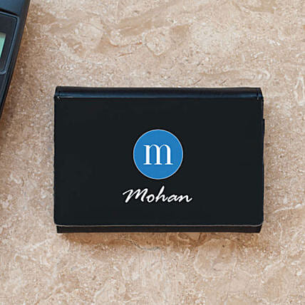 Personalised Initial & Name Business Card Case