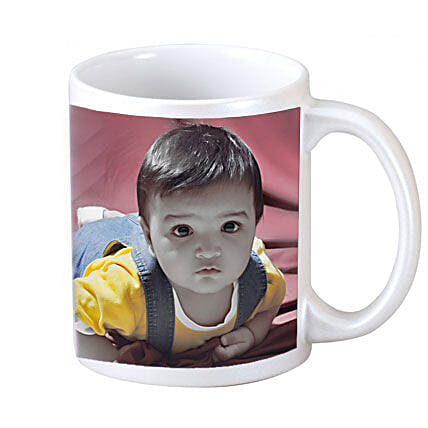 Personalised Photo-white ceramic mugs for kids