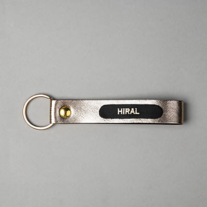 Personalised Matte Gold Key Chain