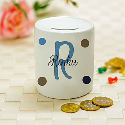 Personalised Name & Initial Piggy Bank