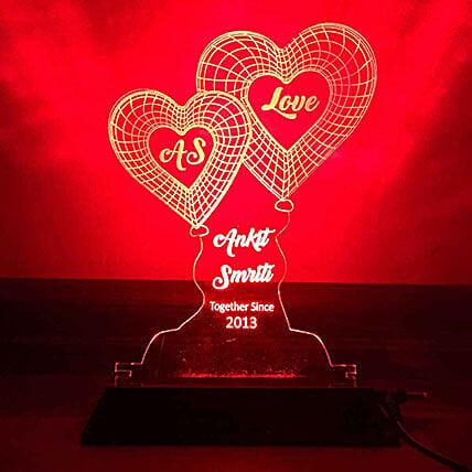 Heart Shaped Night Lamp