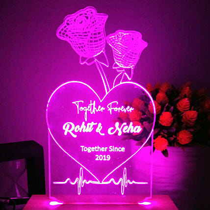 online customised rose pink led night lamp