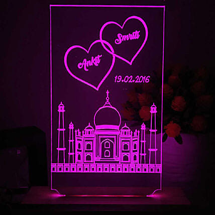 online personalised night lamp for him