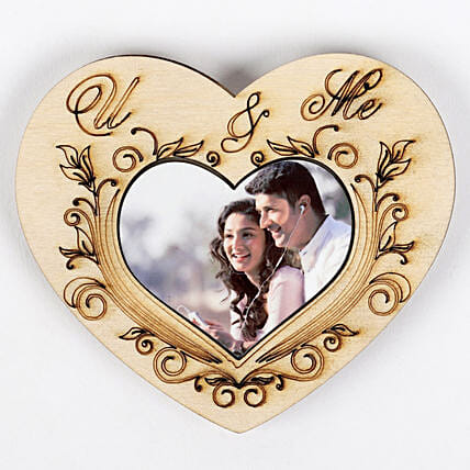 heart shape photo fridge magnet
