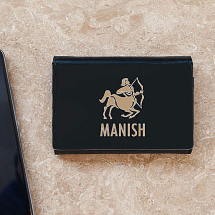 Personalised Zodiac Sign Business Card Case