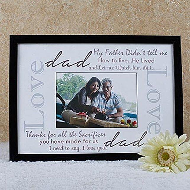 lovley message frame for dad