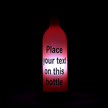 Your Message Lamp-1 red coloured personalized bottle lamp