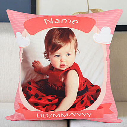 Customised cushion with photo