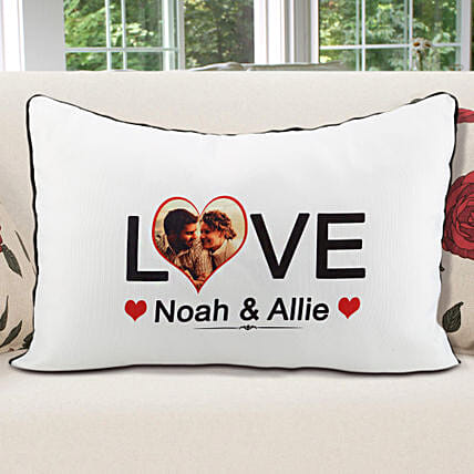 Unconditional Love-White Color Personalized Pillow cover 22x17 inches