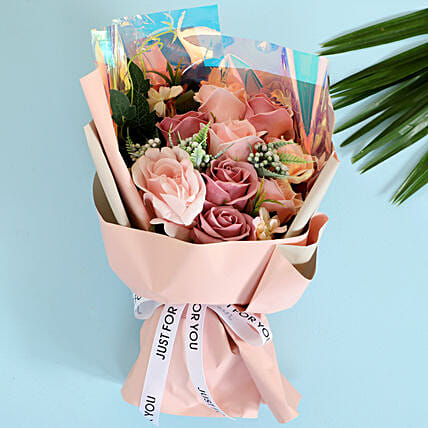 Pink Artificial Flower Bouquet